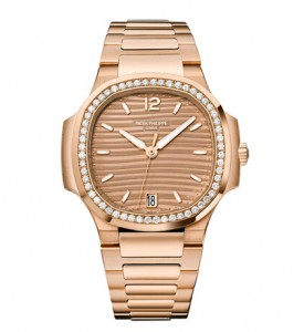 Patek Philippe Nautilus Rose Gold Diamonds Bezel Replica Watches