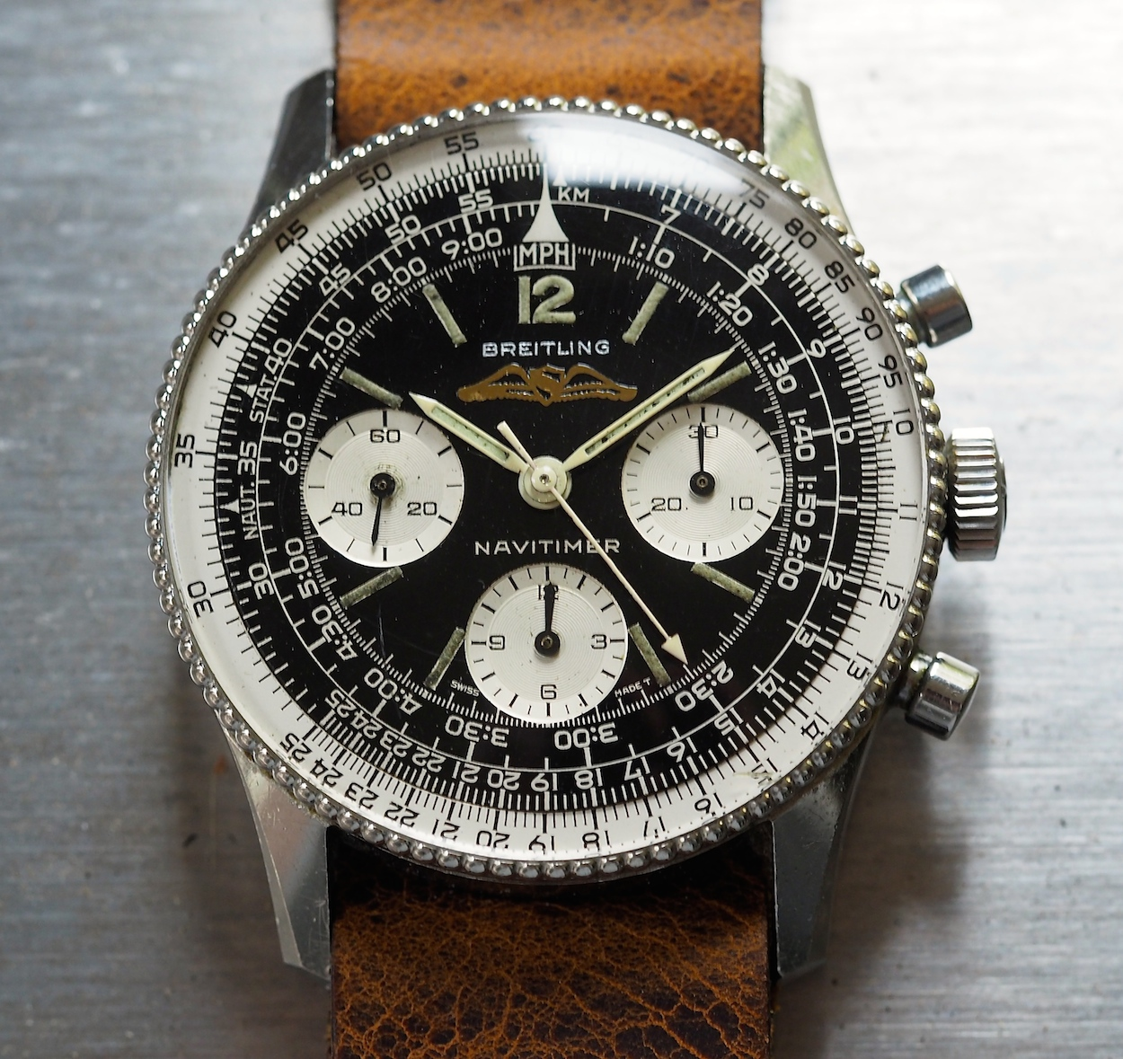 Replica Breitling Navitimer 806 Black Dial Steel Watch