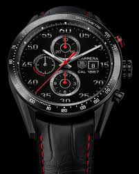 cheap replica tag heuer carrera calibre 1887 chronograph automatic black dial men's watch